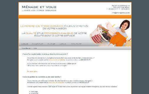 création site internet titres services