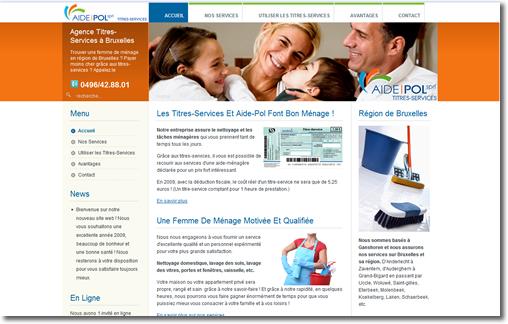 Réaliser un site pour une société Belgique France