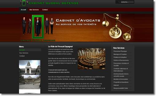 création de site internet pour avocat, juriste, notaire, architecte,...